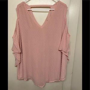 Avenue women's plus 22/24 cold shoulder3/4 sleeves